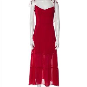 Red reformation dress